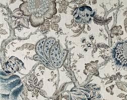 Jacobean Floral Design Curtains by Shabby Chic Curtains Cottage Style Decor Custom Rod Pocket