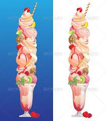 Ice Cream Sundae Food Objects
