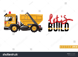 100 Build A Truck Game Vector Toy Garbage Motivational Text Stock Vector