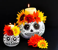 Pumpkin Puke Guacamole by Easy To Make Day Of The Dead Skull Pumpkin Candle Holders