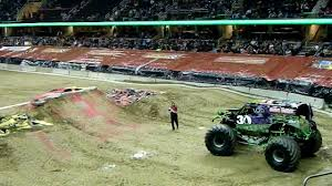 100 Monster Trucks Cleveland Grave Digger Freestyle 2012 Jam Friday Night YouTube
