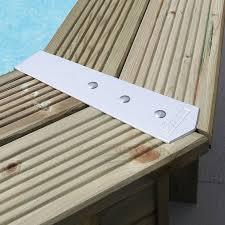 margelle piscine en bois kit finition de margelles aluminium ubbink pour piscines bois