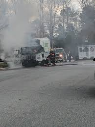100 Game Truck Richmond Va Firefighters Extinguish Fire Involving Garbage Truck Near Entrance