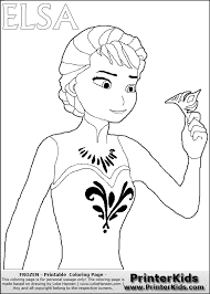 Printerkids Disney Pixar Frozen Elsa Printable Coloring Page Pictures To Pin On Pinterest