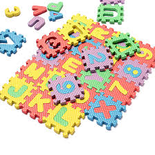 36pcs Soft Foam Baby Children Kids Play Mat Alphabet Number Puzzle