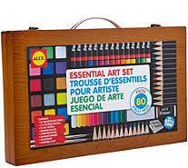 ALEX Toys Artist Studio 80 Piece Art Set W Wood Carrying Case