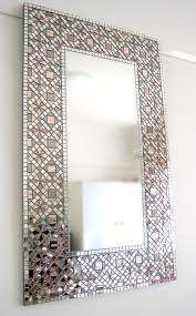 Blue Mosaic Bathroom Mirror by Bathroom Mirrors Mosaic Bathroom Mirrors Home Design Planning