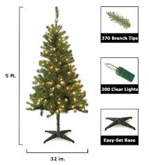 Home Depot Pre Lit Christmas Trees by Home Accents Holiday 5 Ft Wood Trail Pine Artificial Christmas