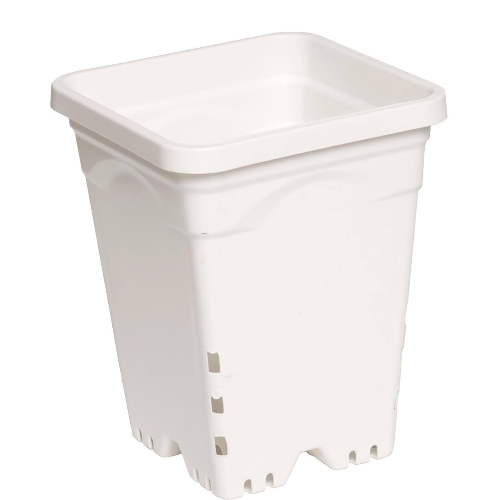 Hydrofarm Square Heavy Duty Pot - White, 4l