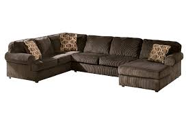 Chocolate Corduroy Sectional Sofa by Vista 3 Piece Sectional Ashley Furniture Homestore