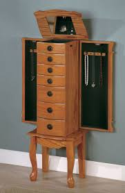 100 Best Jewelry Organization Images On Pinterest   Jewelry ... Decor Lovable Brown Wood Giantex Jewelry Armoire Walmart Cabinet Decorating Luxury Wooden Standing Mirror In Dark Chic Pretty Design Of Perfect Ideas For White Big Lots Framed Wall Or Door Target Box With Necklace Holders The 45 Mounted Lighted Hammacher Schlemmer Gray Walnut With Of Fniture Sears Traditional Antique Cherry Lingerie Chest By Coaster Black Stealasofa Outlet Los