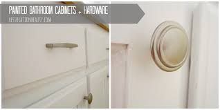 Cabinet Hardware Placement Pictures by Restoration Beauty Painted Bathroom Cabinets Hardware