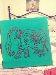 DIY Tribal Elephant Canvas Art