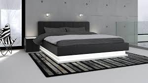 chambre avec lit noir impressionnant tete de lit lumineuse led avec chambre coucher