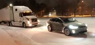 100 Truck Pulling Videos Watch A Tesla Model X Allelectric SUV Pull A Semi Truck Out