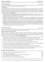 Production Engineer Resume Samples Bar Manager Objective