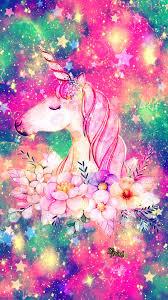 Floral Unicorn Galaxy Wallpaper Androidwallpaper Iphonewallpaper Sparkle Glitter