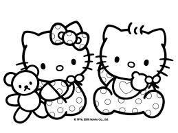 Free Printable Baby Hello Kitty Coloring Pages For Kids Picture 14