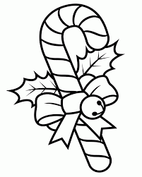 Christmas Bows Coloring Pages Candy Canes