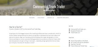 Commercial Truck Trader Feature: Controversial Marketing Techniques Truck Trader Thames 20 Tractor Parts Wrecking Beyond Market Prices Fish Export Lake Victoria Uganda Commercial Truck Trader Magazine Youtube Used Trucks For Sale Road Transport News Commercial Motor Image Result New Michigan Image Information Wikipedia Ford Imt Enhancements Equipment Dealer Demo Show Paper Html Drone Camera