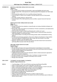 Delivery Operations Manager Resume Cover Letter Automotive Finance Director