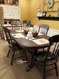 My Dining Table Oak Chairs Painted Gray Black Ikea Uae