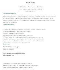 Account Manager Resume Template Assistant Finance Sample Senior Cv