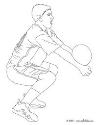 Volleyball Jump Serve Player Setting The Ball Coloring Page