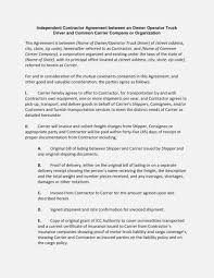100 Truck Lease Agreement Template Owner Operator Driver Contract Unique