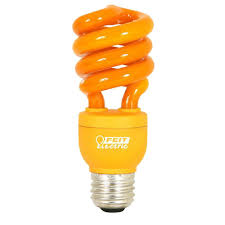 feit electric 60w equivalent orange colored spiral cfl light bulb