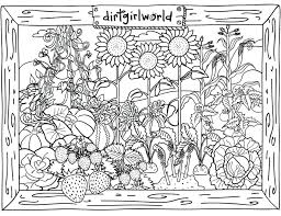 Flower Garden Coloring Pages Free Printable Vegetable Sheets To Print Full Size