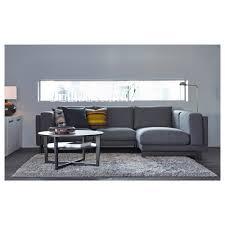 nockeby 3 seat sofa with chaise longue left tenö dark grey wood