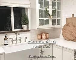 NEW Flat Roman Shade Curtain Custom Linen Nursery Decor