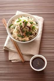 cuisine du riz riz thaï au poulet mariné et shiitaké à la vapeur gourmandiseries