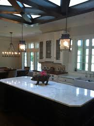 kitchen two recessed lights with slightly center also
