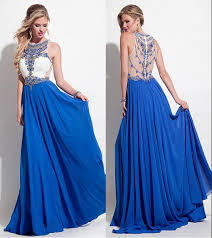 online get cheap white and crystal blue prom dresses aliexpress