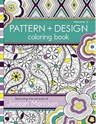 2 Pattern And Design Coloring Book Jenean Morrison Adult Books Volume