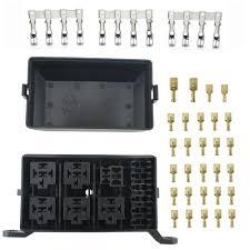 100 Waterproof Truck Box Fuse Connector Relay Spade Holder Tools Way