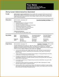 Executive Administrative Assistant Resume Profile Inspirational Examples New Template Of