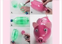 DIY Piggy Bank Out Of Waste Plastic Bottle Interesting Crafts