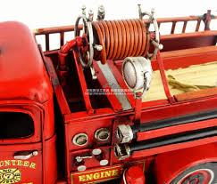 Hot Classic 1941 Chevrolet Fire Engine Model Creative Mini Iron Fire ...