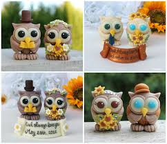 Rustic Owl Wedding Cake Toppers Topper Love Bird