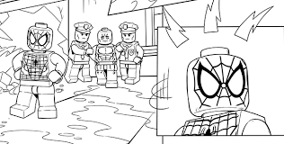 Good Lego Spiderman Coloring Pages 12 In Gallery Ideas With