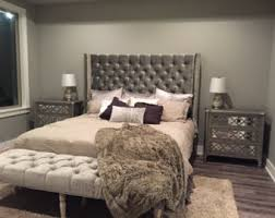 Black Leather Headboard With Diamonds by Extra Wide King Diamond Tufted Headboard And Bench Set In