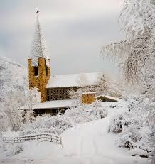 Winter Wedding Venue Church With Snow