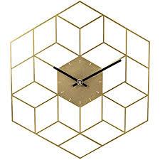 sunbary wanduhr vintage metall wanduhr ohne tickgeräusche uhr lautlos dekorative für küche wohnzimmer schlafzimmer 35 x 40cm golden