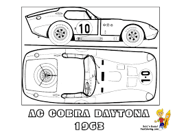 AC Cobra Daytona Car Colouring Sheet At YesColoring