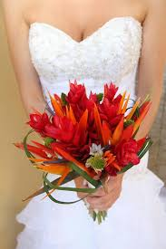 I Know A Great And Inexpensive Florist In CR Fyi Tropical Wedding Bouquet With Red Ginger Bird Of Paradise Costa Rica
