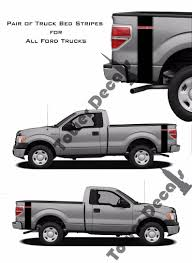 100 Ford Truck Decals Custom Text 2 Color Bed Side Stripes Vinyl Fits Etsy