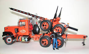 White Road Boss & Logging Trailer { AMT } - Scale Auto Magazine ...